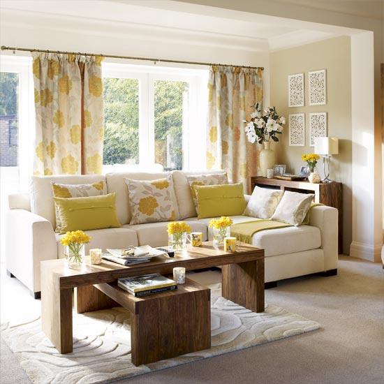 Yellow Living Room: Home Interior Design & Decor: Window