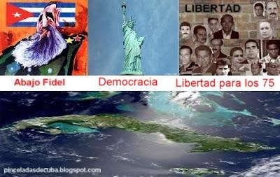 Cienfuegos - Letreros antigubernamentales en Cienfuegos Carteles