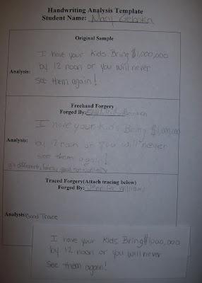 Handwriting analysis m n bunker