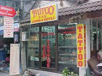 Thailand tattoos studios galore in the khao sarn road for Bangkok tattoo prices
