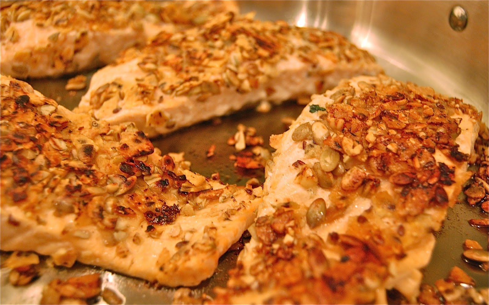 Palate Palette Plate Pepita Tortilla Crusted Salmon