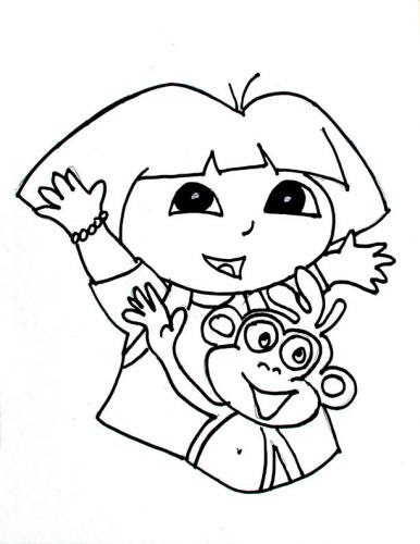 halloween coloring pages: Dora Halloween Coloring Pages