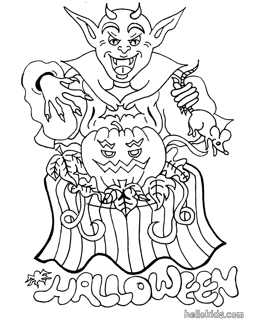 printable coloring pages halloween | halloween coloring pages: July 2010