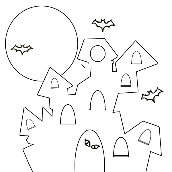 halloween coloring pages: Scary House Coloring Pages