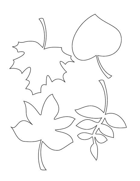 autumn leaf template free printables - fall leaves coloring pages for kindergarten