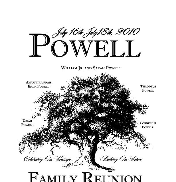 William Powell Jr. & Sarah Powell Family Reunion: 2010