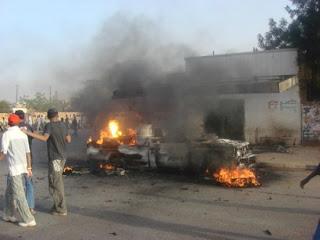 Слики од нападот врз Картум