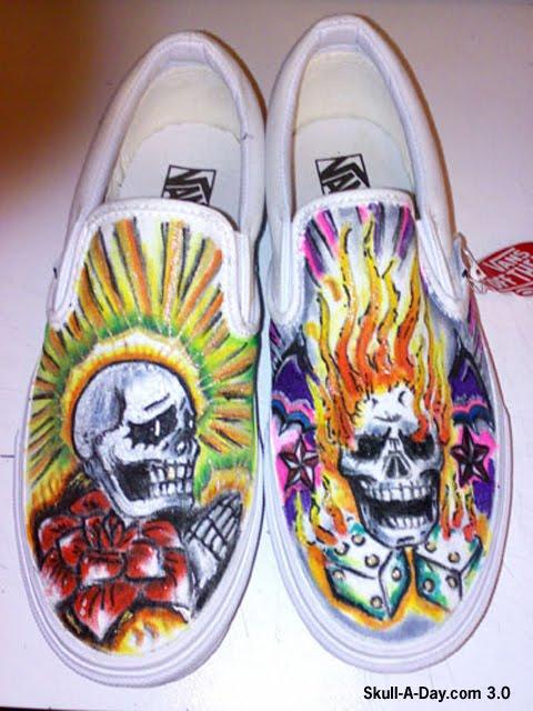 Mens Vans Shoes Black And Blue Hawaiian