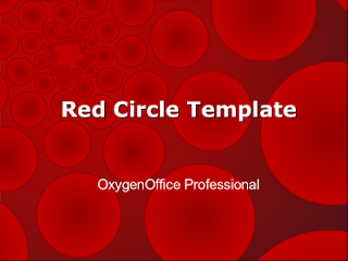 Red Circle OpenOffice.org Impress template by from OxygenOffice Professional