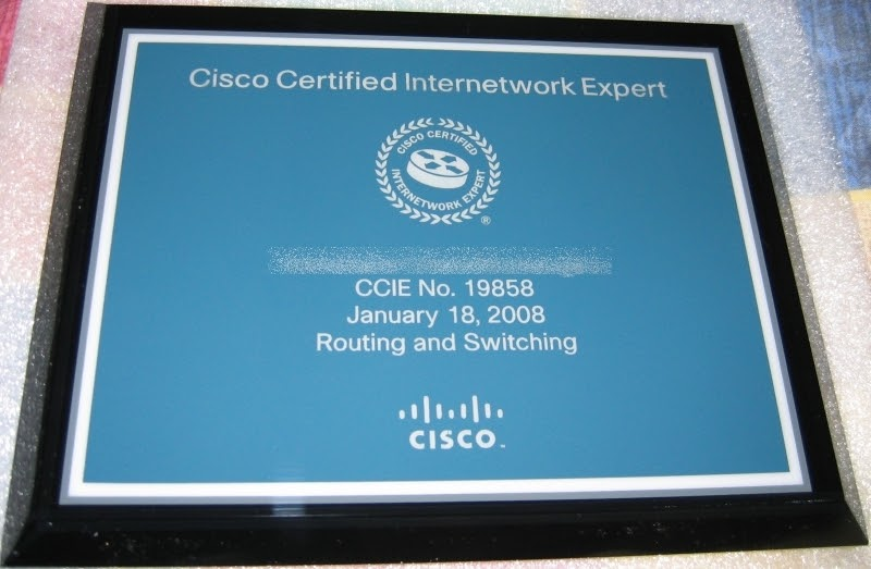 Part P Certificate >> CCIE in 3 months - Is it possible?: CCIE plaque - too ...