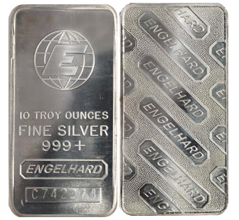 Westminster Mint 10 Oz Engelhard Silver Bar