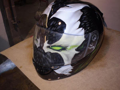 Friggin Sweet Custom Airbrushed Helmets Thescooterscoop