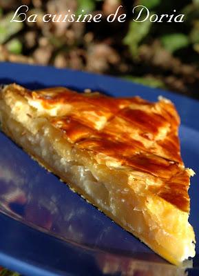 recettes  Galette des rois aux pommes et aux noix de pécan