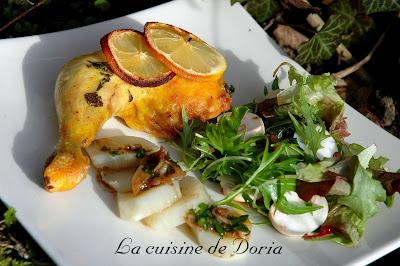 recettes plats  Poulet au citron