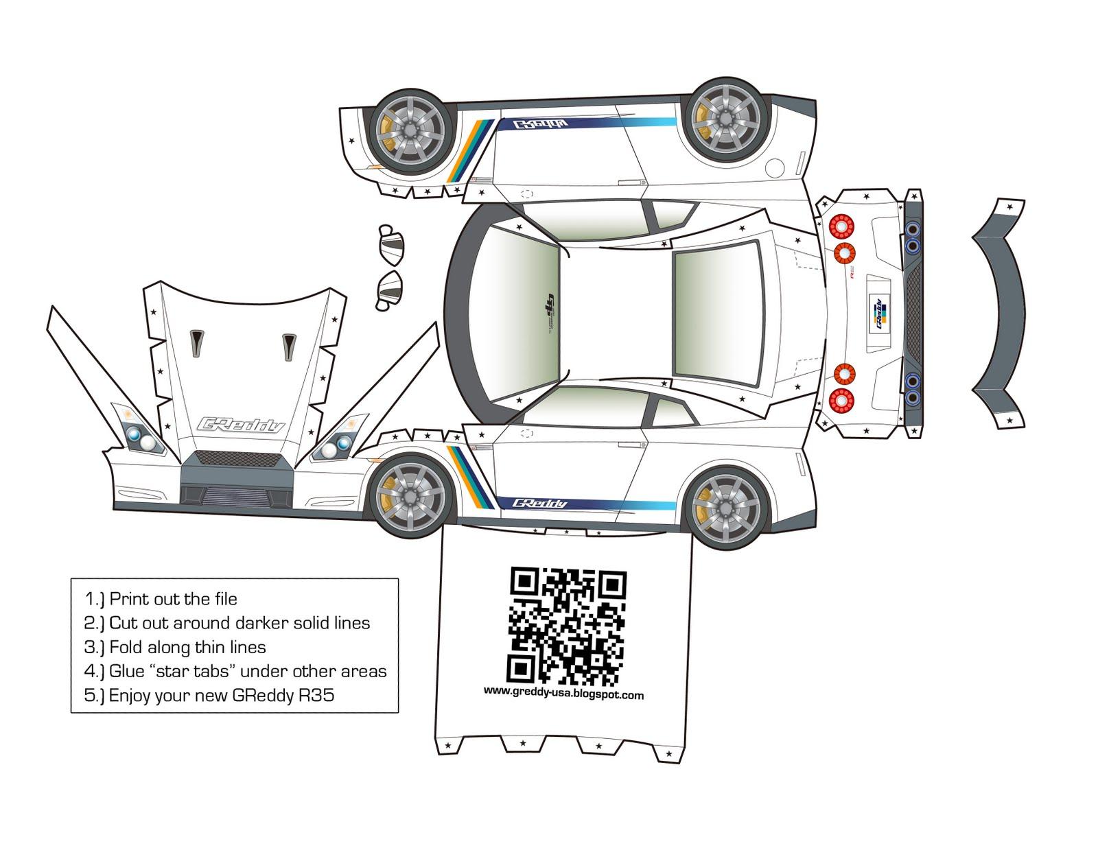 Nissan Papercraft Cars