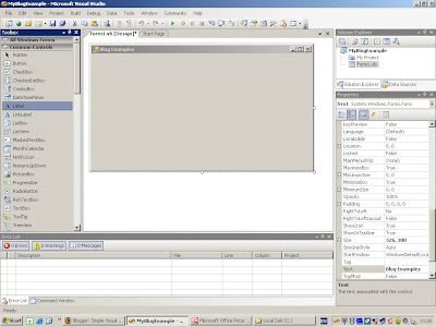 Simple Visual Basic and  NET: Show Text in a Label
