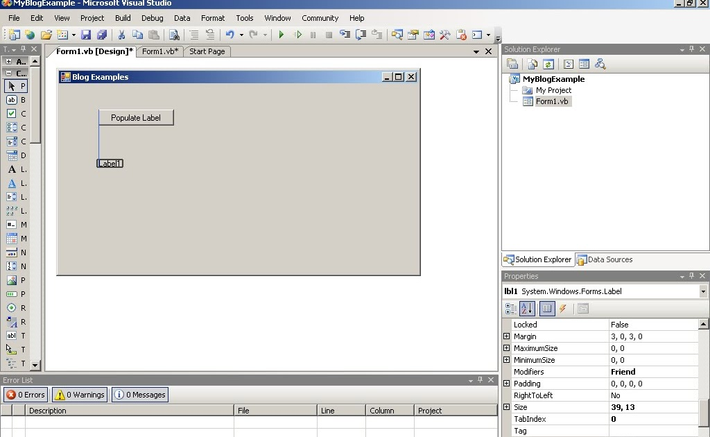 Simple Visual Basic and  NET: Wrapping Text in a Label