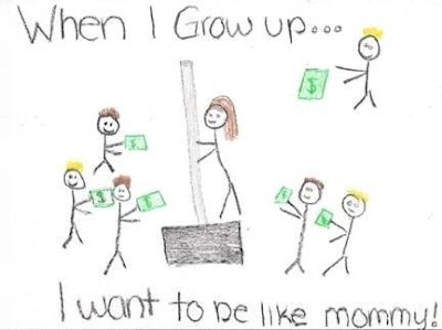 When I grow up... I want to be like Mommy