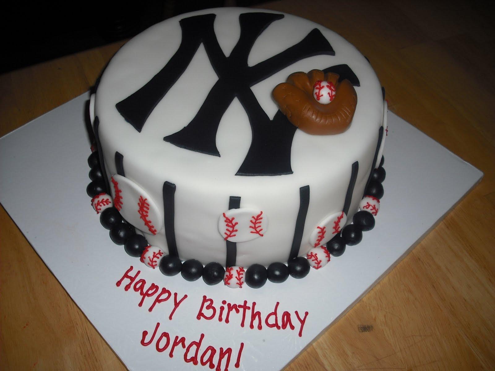 Sprinklebelle New York Yankees Cake