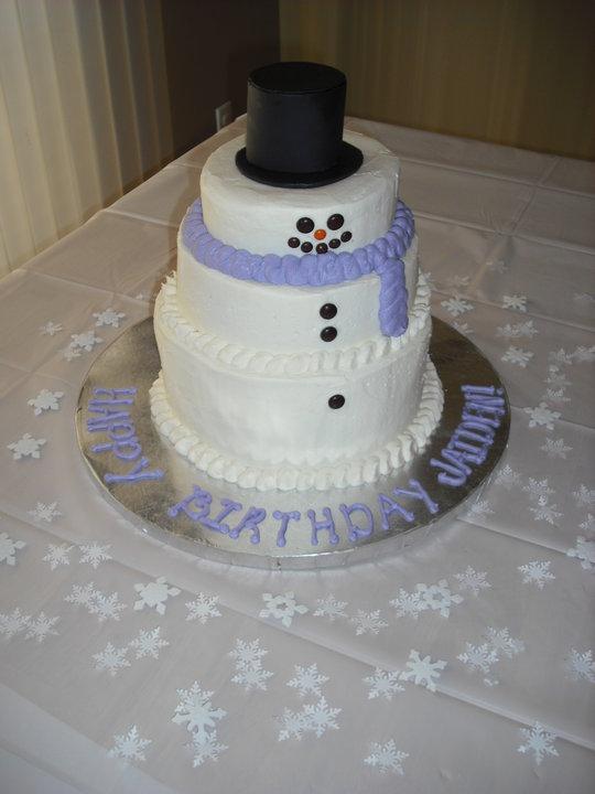 Sprinklebelle Cakes Snowman Cake