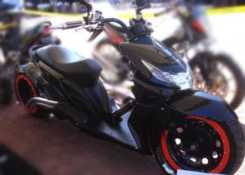 Modification Black Honda Beat 2009