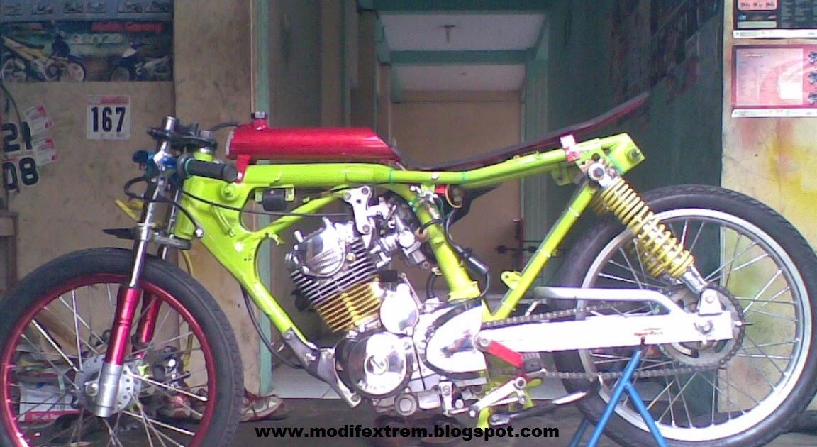 Modification Motorcycle: Honda Tiger 2000 Drag Race