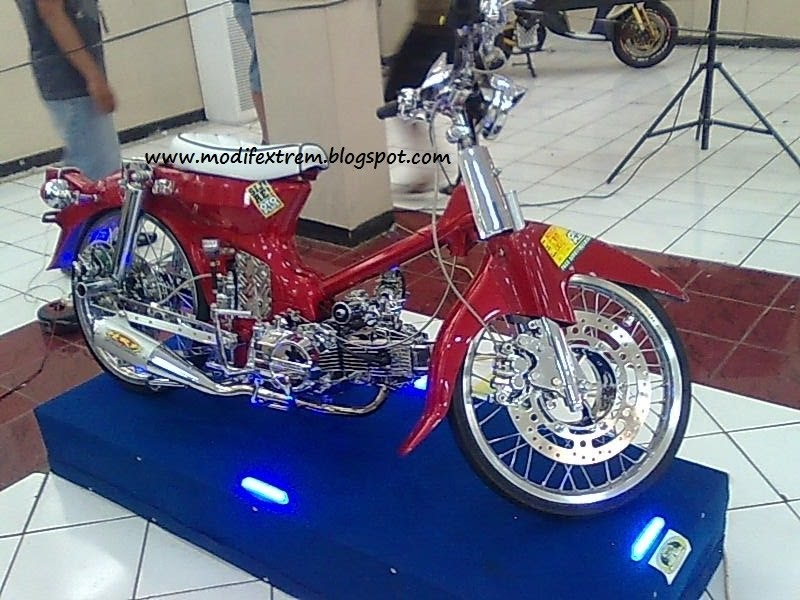 Modifikasi Motor Classic / Tua C70 Full Chrome