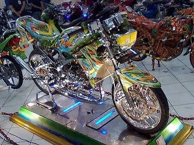 kawasaki Ninja R modification Full color tribal concept.