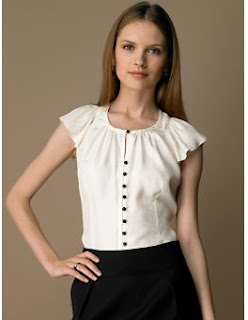 Fashion Plate - Fashion, Shopping and Style Blog: Pretty Silk Blouse :  blouse fashion silk cream