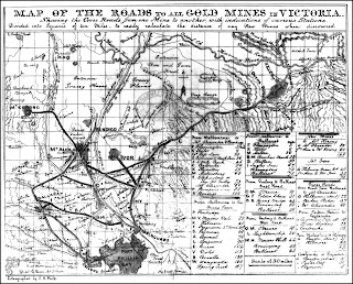 Map of Roads to the Victorian Goldfields