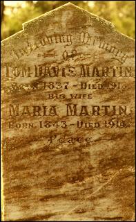 Gravestone of Tom Davis Martin & Maria Fisher, Waterloo
