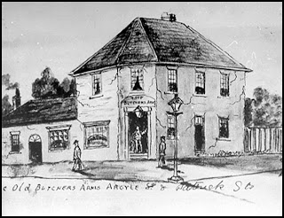 Butchers Arms Hotel around 1850 [Tas.Archives]
