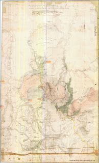1853 Goldfields Map of central Victoria showing whereabouts of Cosstick Brothers [Very large image]