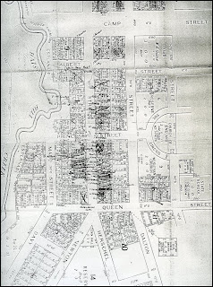 Map of Amherst Town - after mid 1870s