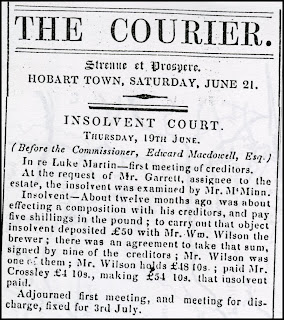 Hobart Insolvent Court Notice
