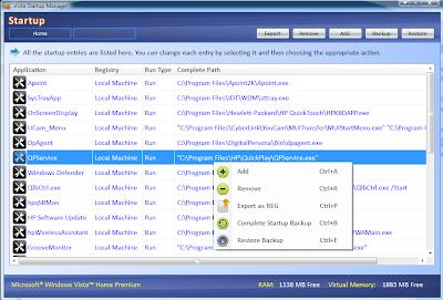 Satyendra's Blog: Windows Startup Manager