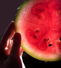 Gaze at the watermelon