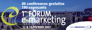 """Conférence du """"Forum e-Marketing 2007"""" sur l'emailing 1"""