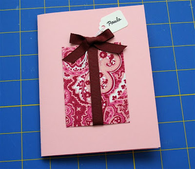 paper crafts: make a birthday present card