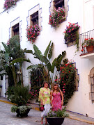 Sitges, Spain, with mom
