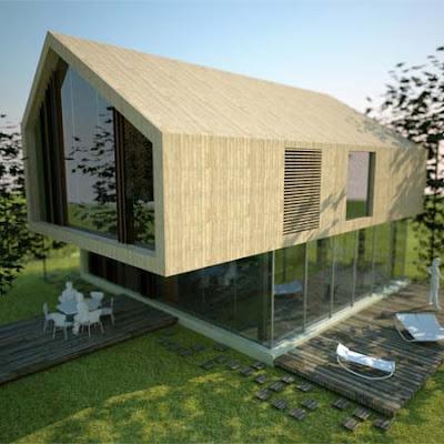 Piccole case prefabbricate in legno for Piccole case moderne