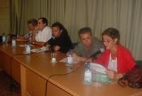De izquierda a derecha, Daniel García, Jorge Fornet, Rogelio Riverón, Senel Paz y Laidi Fernández.