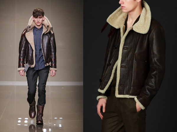 0cd8a4cd6028 12 CAVALIERS  Runway Look For Less  Shearling Leather Aviator Jacket