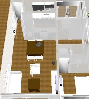 Mercedes merino decoracion living comedor departamento for Decoracion de living comedor de departamento