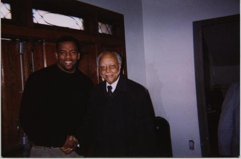 Brooks and  National Baptist President, Reverend Dr. William J. Shaw