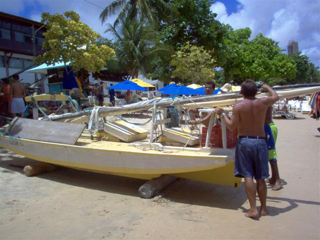 Praia de Ponta Negra-pescadores