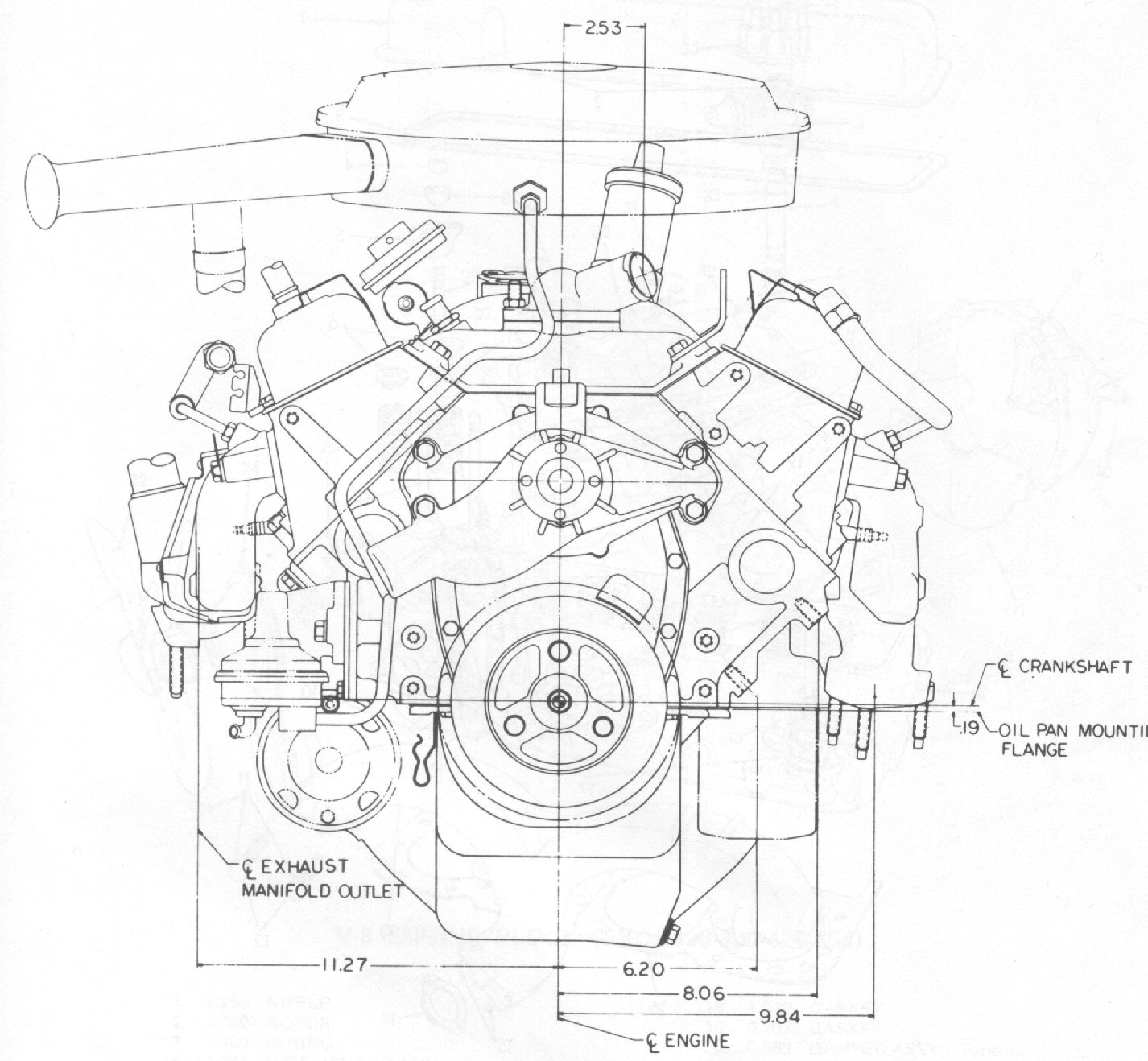 V Twin Engine Diagram With Dimensions