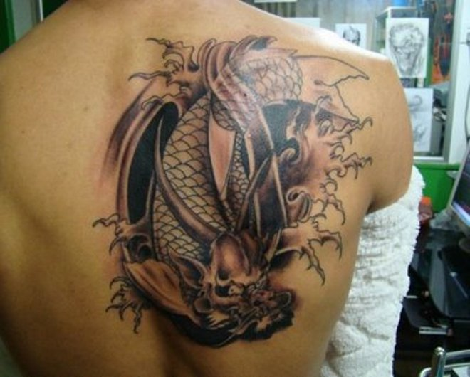 awesome 3d dragon tattoo
