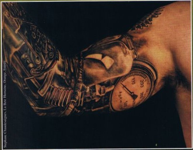 awesome 3d tattoo time machine