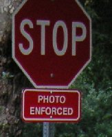 stop sign photo enforced
